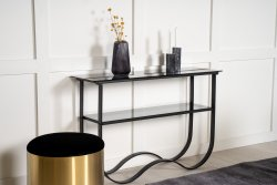 Wavy side table black/black